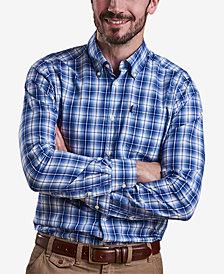 Barbour Men's Leo Medium Blue Plaid Shirt