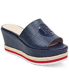 Tommy Hilfiger Batist Platform Espadrille Wedge Sandals