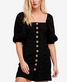 Free People Daniella Cotton Eyelet Mini Dress
