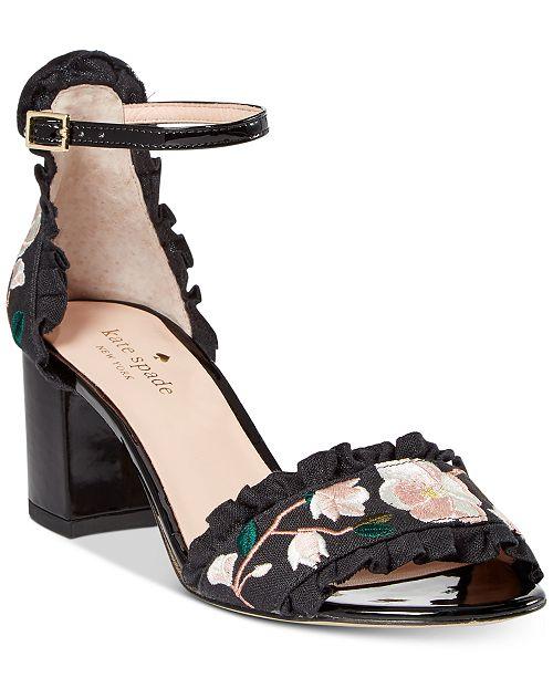 Kate Spade New York Wayne Embroidered Dress Sandals YUKS9Jr6