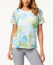 Alfred Dunner Petite Turks & Caicos Printed T-Shirt