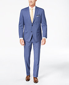 CLOSEOUT! Michael Kors Men's Classic-Fit Light Blue Pinstripe Suit