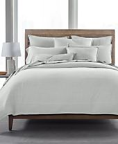 CLOSEOUT! Hotel Collection 525 Yarn Dye Cotton 5-Pc. Full/Queen Duvet Set, Created for Macy's