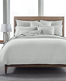 Hotel Collection 525-Thread Count Yarn Dyed Twin Duvet Cover, Created for Macy's