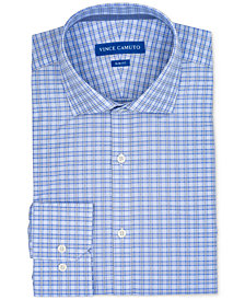 Vince Camuto Men's Slim-Fit Comfort Stretch Check Dress Shirt