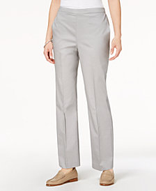 Alfred Dunner Petite Charleston Pull-On Straight-Leg Pants