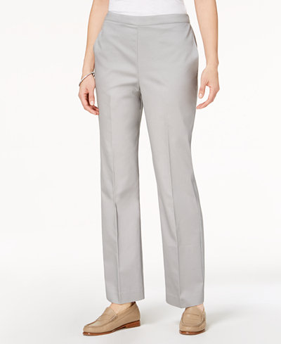 Alfred Dunner Petite Charleston Pull-On Straight-Leg Pants