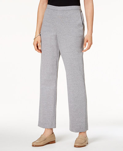 Alfred Dunner Petite Play Date Pull-On Straight-Leg Pants