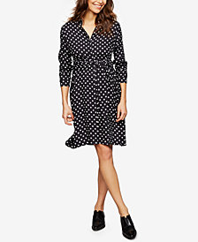 Isabella Oliver Maternity Printed Shirtdress