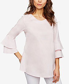 Isabella Oliver Maternity Bell-Sleeve Top