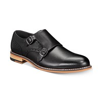 Deals on Bar III Men's Jesse Leather Monk-Strap Oxfords