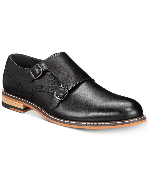 Bar III Men's Jesse Leather Monk-Strap Oxfords, Created for Macy's