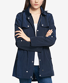Tommy Hilfiger Water-Resistant Petite Hooded Tab-Sleeve Anorak