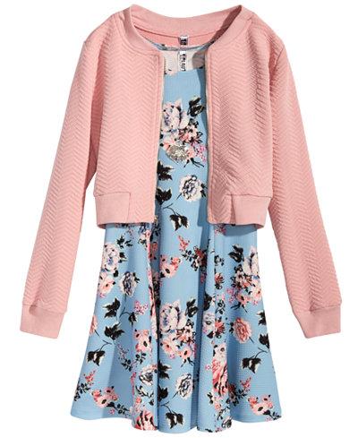 Beautees 2-Pc. Jacket & Dress Set, Big Girls