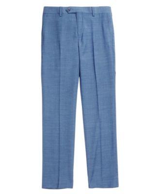 Solid Blue Suit Pants, Big Boys