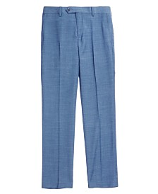 DKNY Solid Blue Suit Pants, Big Boys