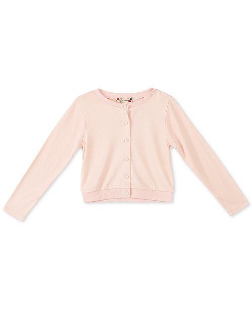 Speechless Big Girls Pearl Button Cardigan