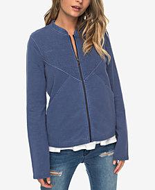 Roxy Juniors' Oh Buoy Cotton Fleece-Lined Sweatshirt