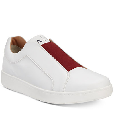 Armani Exchange Men's Slip-On Sneakers With Color-Block Detail