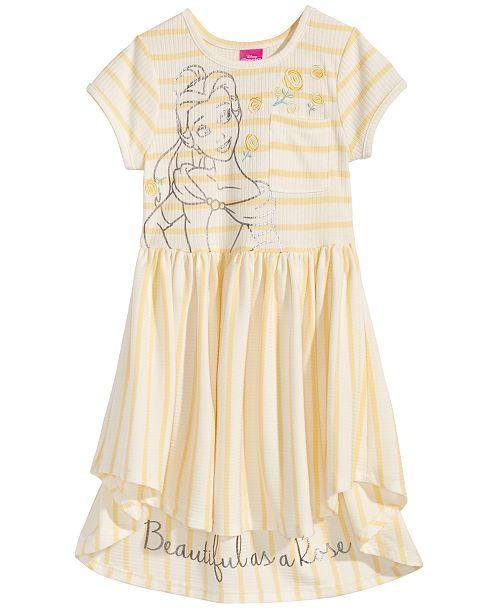 Beauty & The Beast Belle Striped Dress, Little Girls