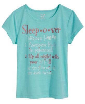 Graphic-Print Pajama Top, Little Girls & Big Girls