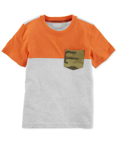 Carter's Camo-Print Pocket Cotton T-Shirt, Toddler Boys