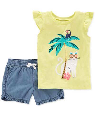 Carter's 2-Pc. T-Shirt & Shorts Set, Little Girls & Big Girls