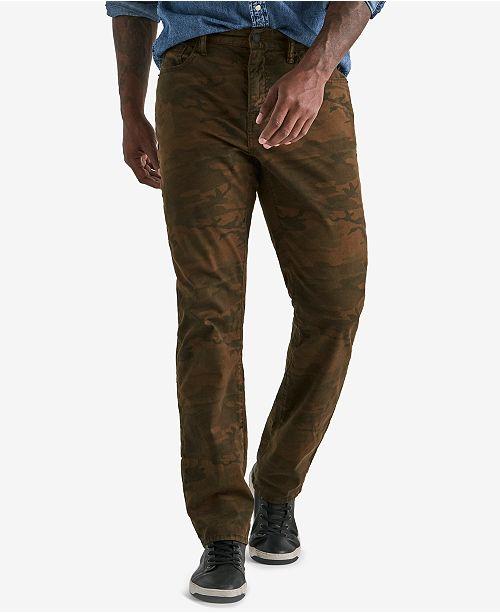 bee6c9b7d72 Lucky Brand Men s 410 Athletic Slim-Fit Camo-Print Pants   Reviews ...