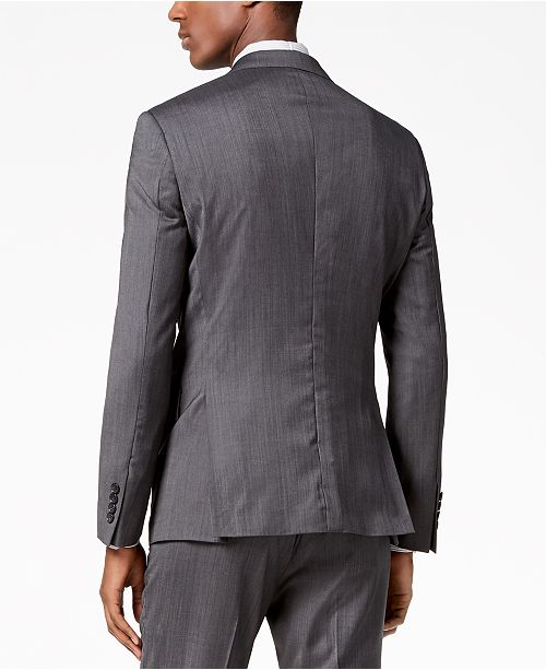 701514d222 DKNY Men s Modern-Fit Stretch Textured Suit Jacket   Reviews ...