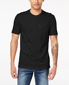Sean John Men's Zip-Pocket Flight T-Shirt, Created for Macy's
