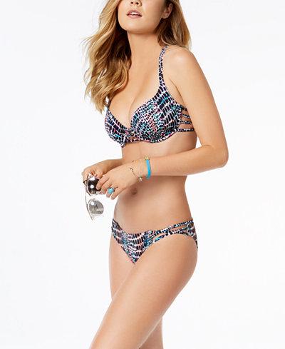SUNDAZED Harper Bra-Sized Strappy Underwire Top & Bikini Bottoms