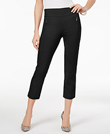I.N.C. Cropped Straight-Leg Pants, Created for Macy's