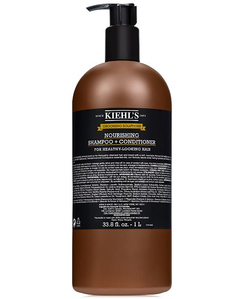 Kiehl's Since 1851 Grooming Solutions Nourishing Shampoo + Conditioner, 33.8 fl. oz.