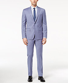 CLOSEOUT! DKNY Men's Modern-Fit Stretch Blue Suit Separates