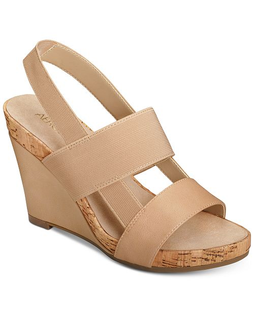 800896e534f8 Aerosoles Magnolia Plush Wedge Sandals   Reviews - Sandals ...