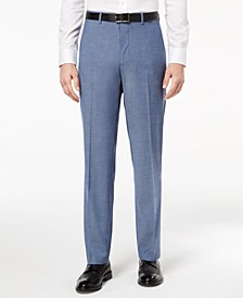 Men's Slim-Fit Performance Stretch Light Blue Suit Pants, Created for Macy's