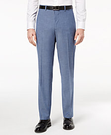 CLOSEOUT! Alfani RED Men's Slim-Fit Performance Stretch Light Blue Suit Pants, Created for Macy's