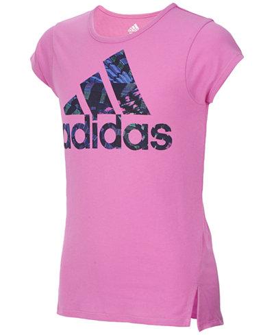 adidas Logo-Print T-Shirt, Little Girls