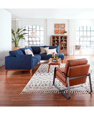 Furniture Jollene Leather Accent Chair Furniture Macy S
