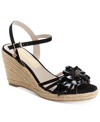 Nanette By Quince Floral Wedge Sandals, Created For Macy's by Nanette Lepore