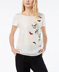 Weekend Max Mara Moda Silk Embellished Top