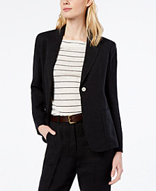 Weekend Max Mara Boero Linen One-Button Blazer