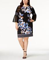 5d0ee7c87 JM Collection Plus Size Embellished Bell-Sleeve Dress