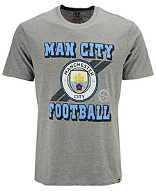 '47 Brand Men's Manchester City Club Team Stripe Club T-Shirt
