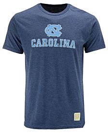 Retro Brand Men's North Carolina Tar Heels Dual Blend Midsize Logo T-Shirt