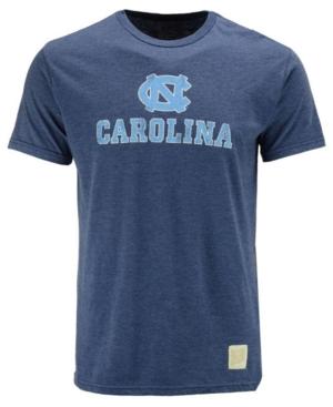 image of Retro Brand Men-s North Carolina Tar Heels Dual Blend Midsize Logo T-Shirt