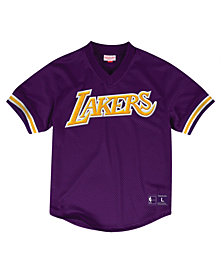 Mitchell & Ness Men's Los Angeles Lakers Wordmark Mesh V-Neck Jersey
