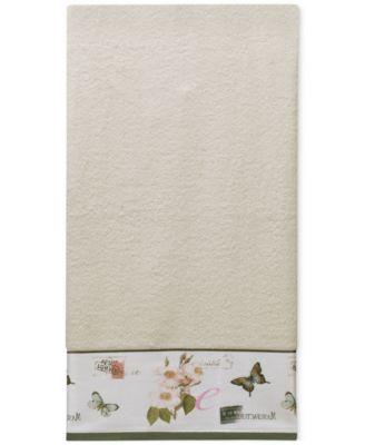 Botanical Diary Cotton Border-Print Bath Towel