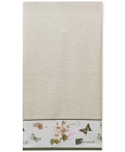 Creative Bath Botanical Diary Cotton Border-Print Bath Towel