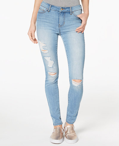 Celebrity Pink Juniors' Ripped Skinny Jeans
